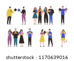 male and female characters... | Shutterstock .eps vector #1170639016