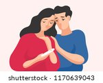 sad man and woman standing... | Shutterstock .eps vector #1170639043