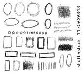 vector set of hand drawn black... | Shutterstock .eps vector #1170639343