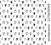 seamless pattern with hand... | Shutterstock .eps vector #1170639349