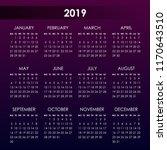 calendar for 2019 year on... | Shutterstock .eps vector #1170643510
