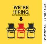 we are hiring concept design... | Shutterstock .eps vector #1170645136