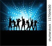 silhouettes of people dancing... | Shutterstock .eps vector #117064630