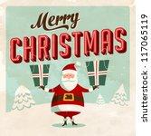 Vintage Christmas Card   Vector ...