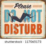 vintage metal sign   please do... | Shutterstock .eps vector #117065173