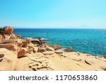 rocky seashore karidi beach at... | Shutterstock . vector #1170653860