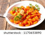 carrot and parsley | Shutterstock . vector #1170653890