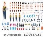 modern redhead teenage boy... | Shutterstock .eps vector #1170657163