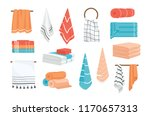 collection of hand and bath... | Shutterstock .eps vector #1170657313