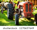 An Old Vintage Red Tractor...