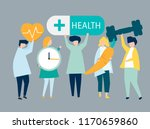 characters of people holding... | Shutterstock .eps vector #1170659860
