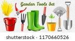 set of realistic garden...   Shutterstock .eps vector #1170660526