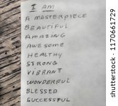 Small photo of Affirmations to tell yourself