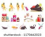 disinfection pest control set... | Shutterstock .eps vector #1170662023