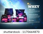 fitness sport muscle mass gain...   Shutterstock .eps vector #1170664870