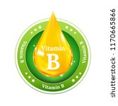 vitamin b on yellow drop.... | Shutterstock .eps vector #1170665866