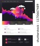 modern cool website design... | Shutterstock .eps vector #1170667489