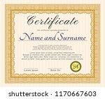 orange sample certificate or... | Shutterstock .eps vector #1170667603