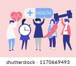charactes of people holding... | Shutterstock .eps vector #1170669493