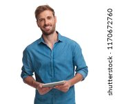 smiling young casual man... | Shutterstock . vector #1170672760