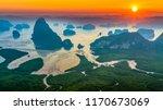 aerial view  phang nga bay at...   Shutterstock . vector #1170673069