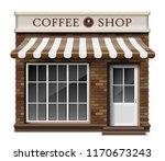exterior coffee boutique shop... | Shutterstock .eps vector #1170673243