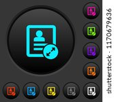 extend contact dark push... | Shutterstock .eps vector #1170679636