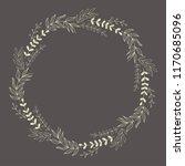 wreath color vector illustration | Shutterstock . vector #1170685096