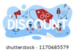 discount concept. idea of... | Shutterstock .eps vector #1170685579