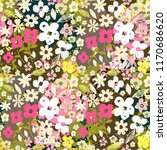 seamless pattern with flowers ... | Shutterstock .eps vector #1170686620