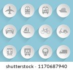 transport web icons on light... | Shutterstock .eps vector #1170687940