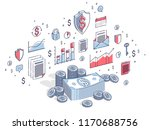 cash money dollar stacks and... | Shutterstock .eps vector #1170688756