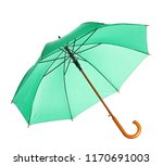beautiful open umbrella on... | Shutterstock . vector #1170691003