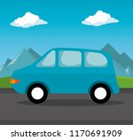 car vehicle transport icon | Shutterstock .eps vector #1170691909