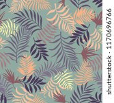 tropical background with palm... | Shutterstock .eps vector #1170696766