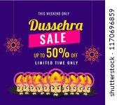 dussehra sale poster or banner... | Shutterstock .eps vector #1170696859