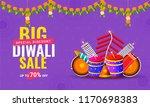 diwali sale poster or banner... | Shutterstock .eps vector #1170698383