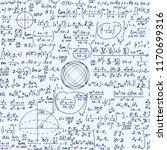 math vector seamless background ... | Shutterstock .eps vector #1170699316
