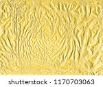 shiny yellow gold crumpled... | Shutterstock . vector #1170703063