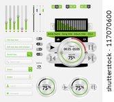 music web user interface... | Shutterstock .eps vector #117070600