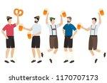 men in traditional bavarian...   Shutterstock .eps vector #1170707173