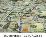 lot of one hundred dollar bills ... | Shutterstock . vector #1170712666