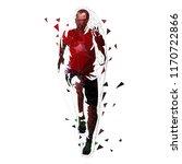 runner  low polygonal vector... | Shutterstock .eps vector #1170722866