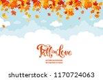 maple leaves and sky | Shutterstock .eps vector #1170724063