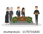 funeral ceremony on the... | Shutterstock .eps vector #1170731830