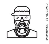 rapper icon vector isolated on... | Shutterstock .eps vector #1170732910