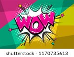 wow amazing magic comic text... | Shutterstock .eps vector #1170735613