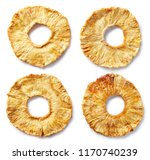 freeze dried pineapple slices... | Shutterstock . vector #1170740239