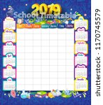 calendar and school timetable... | Shutterstock .eps vector #1170745579