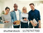 diverse group of young... | Shutterstock . vector #1170747700